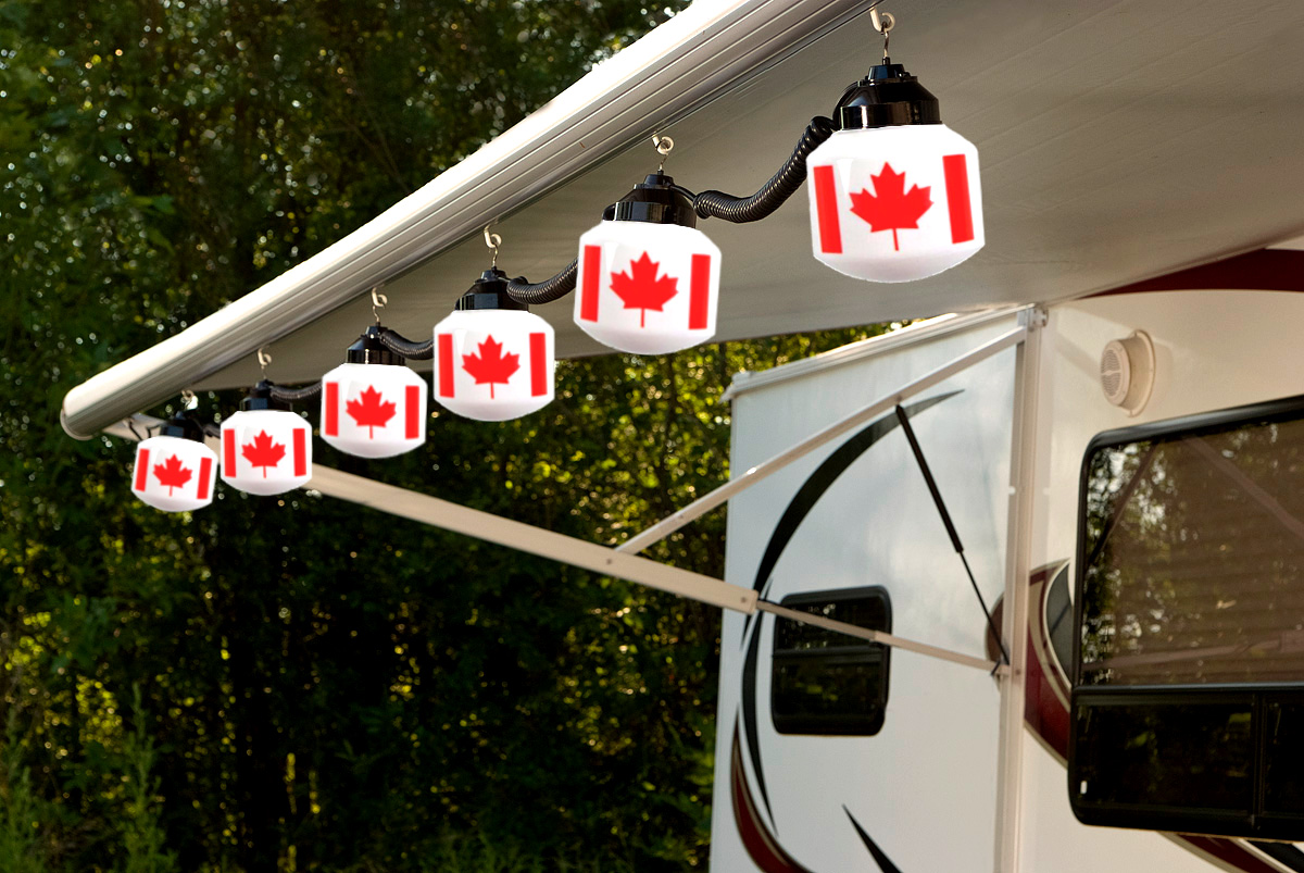 Canadian Flag String Light Set Camp In Style