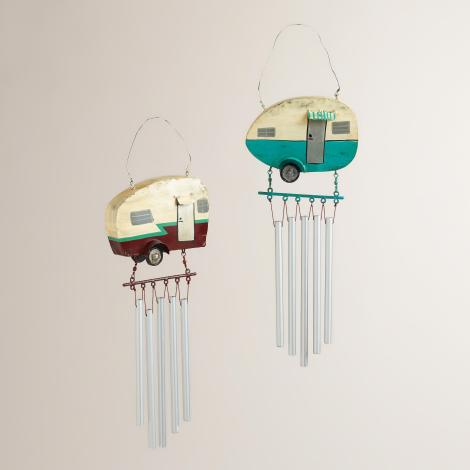 469275 WC METAL RETRO CAMPER 2A      Department 24 Wind Chimes PT MADU BROOKLYN